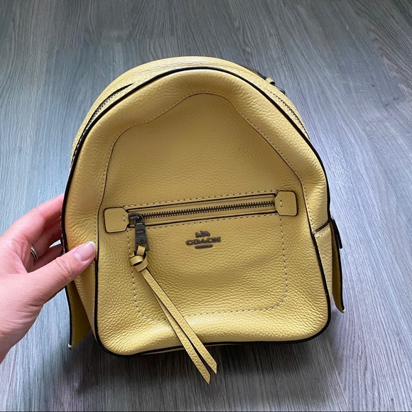 Mini Coach leather backpack